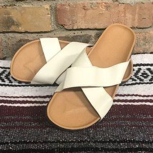 White sandals NWOT
